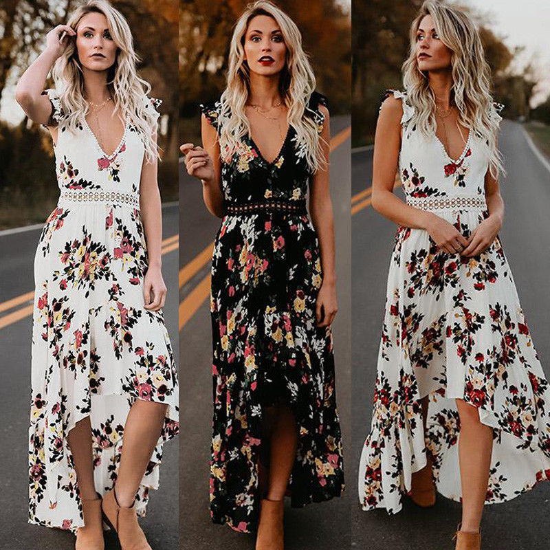 Emma - Floral Printed Maxi Dress