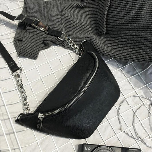 Leather Chain Side Bag - Adore Thix