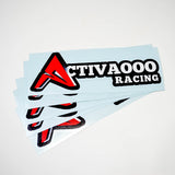 ACTIVAOOO RACING STICKERS 4-PACK - ACTIVAOOO RACING