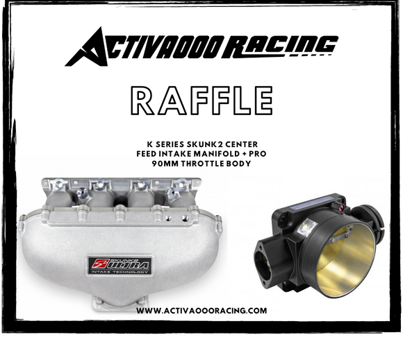 RAFFLE ENTRY - K SERIES SKUNK2 CENTER FEED INTAKE MANIFOLD + PRO 90MM THROTTLE BODY