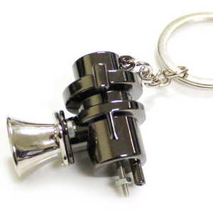 RACING CAR ENINE TURBO BOOST BOV BLOW OFF VALVE KEY RING KEYCHAIN CHARM