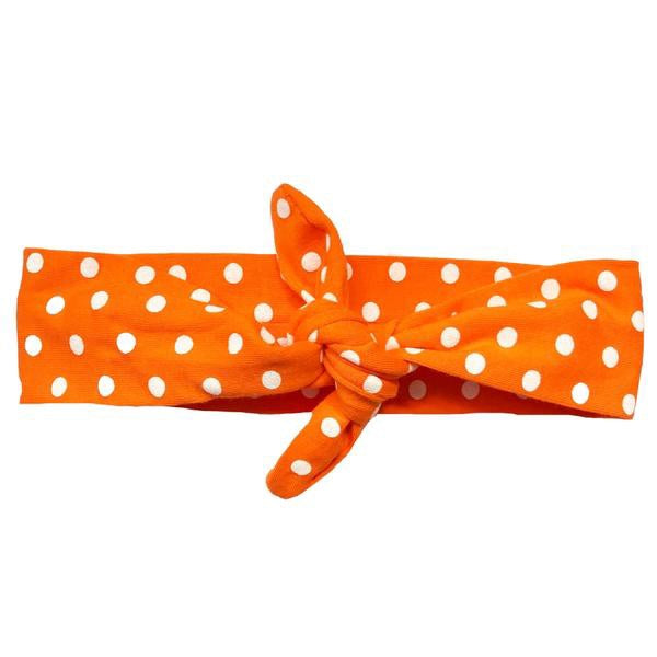Orange Polka Dot Knotted