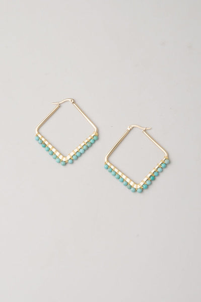 Kayla Blue Gold Hoops