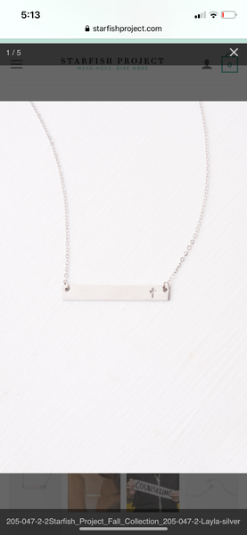 Layla Silver Cross Necklace