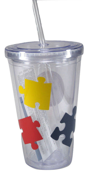 Autism Awareness Puzzle Piece Drink Tumbler
