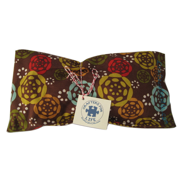 Brown with Flowers Lavender Eye Pillow