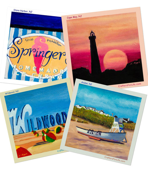 South Jersey Drink Coasters with artwork by individuals with special needs