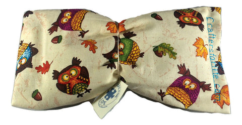 Owl Pattern Lavender Eye Pillow