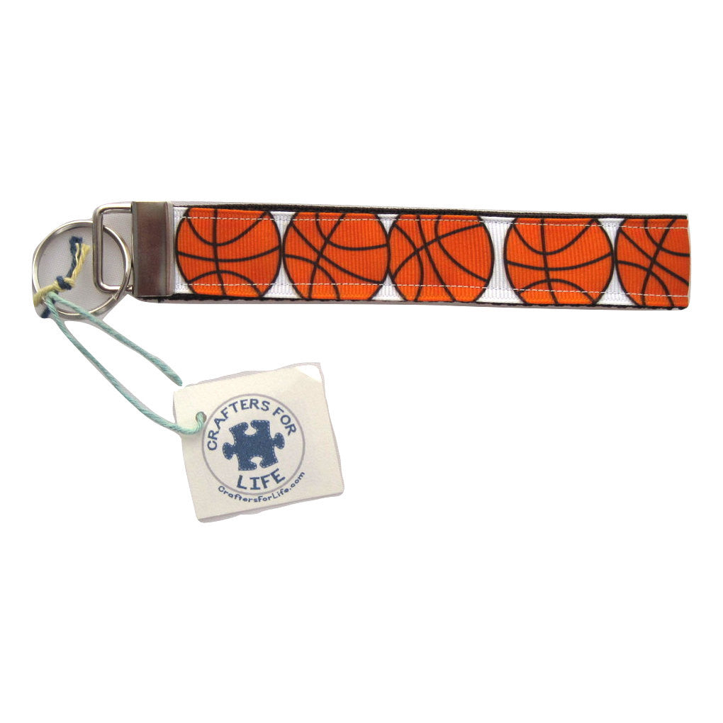 Basketball Key Chain with Black Backing