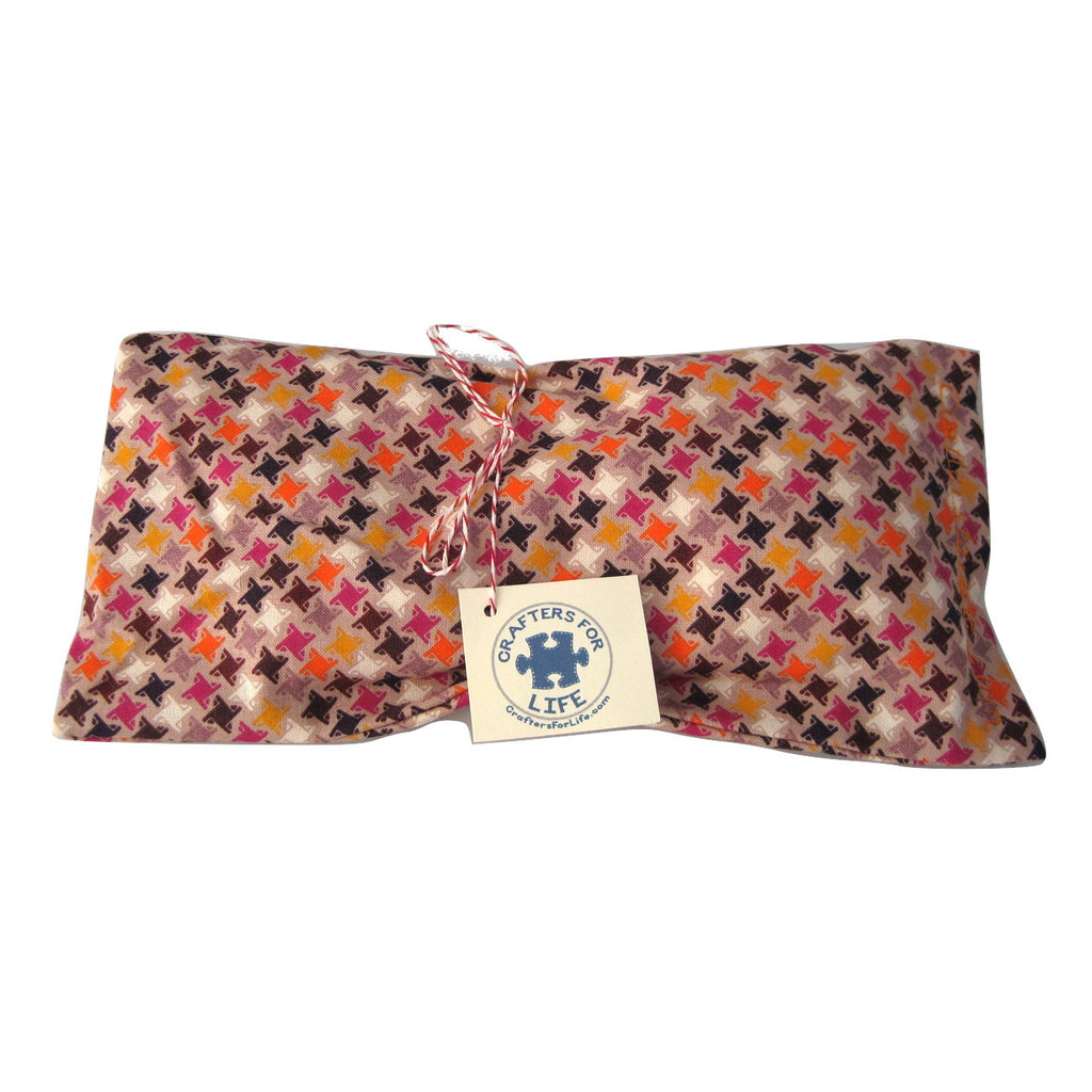 Brown with Stars Lavender Eye Pillow