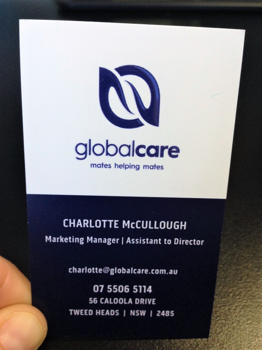 Global Care Personalised Buisness Cards