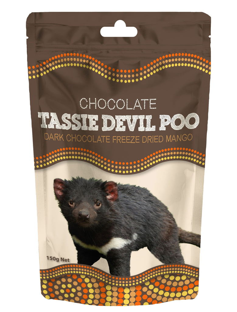 Tassie Devil Poo  (Dark Chocolate Freeze Dried Mango)
