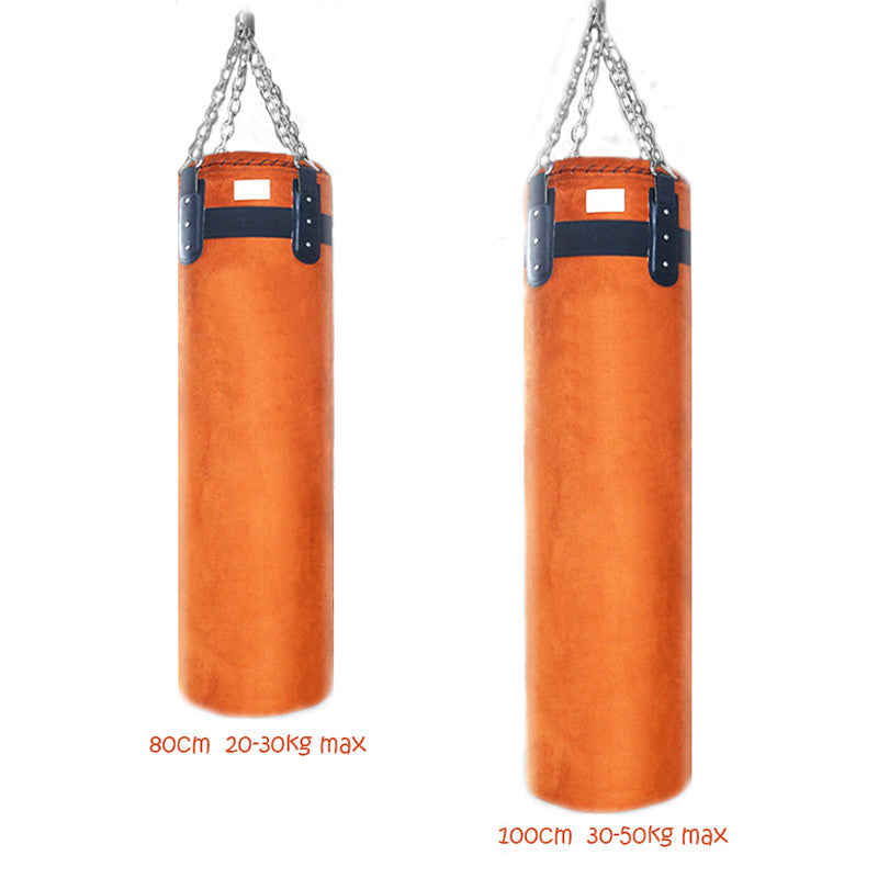 Boxing Punch Kickboxing Sand Bag Suede Leather