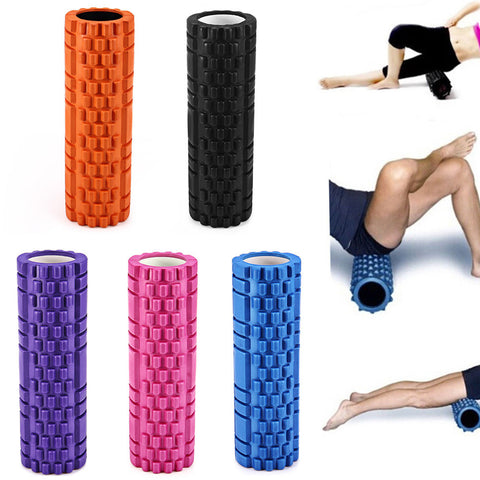 Foam Massage Rollers Grid Pattern Bumps Yoga Pilates Exercise Gym Physio Rehab