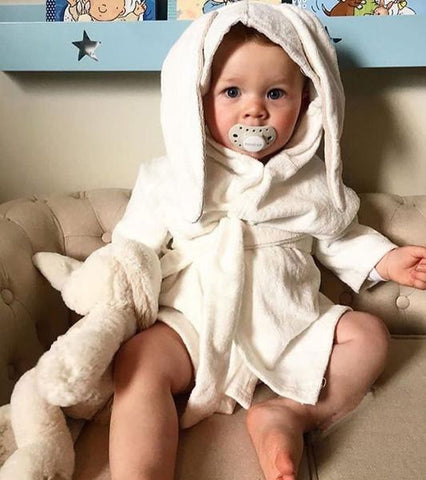 Bookoo Babies Bunny Hooded Bathrobe