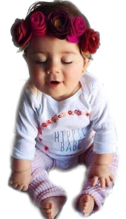 Bookoo Babies Elastic Rose Headband