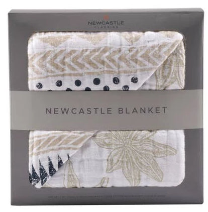 Bookoo Babies Pyramid Print & Star Anise Newcastle Blanket