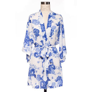 Bookoo Babies Mommy & Me Blue Floral Kimono Robes