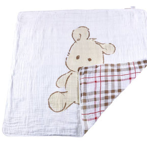 Bookoo Babies Teddy Bear & Plaid Newcastle Blanket