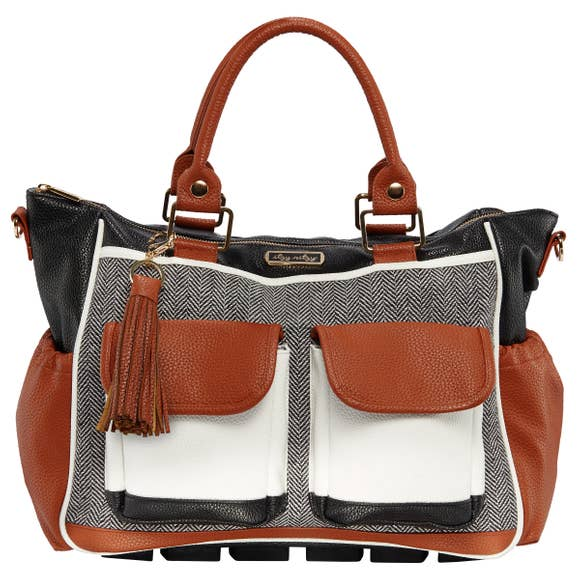 Triple Threat Convertible Diaper Bag - Coffee & Cream