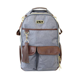 Handsome Heather Gray Boss Diaper Bag Backpack