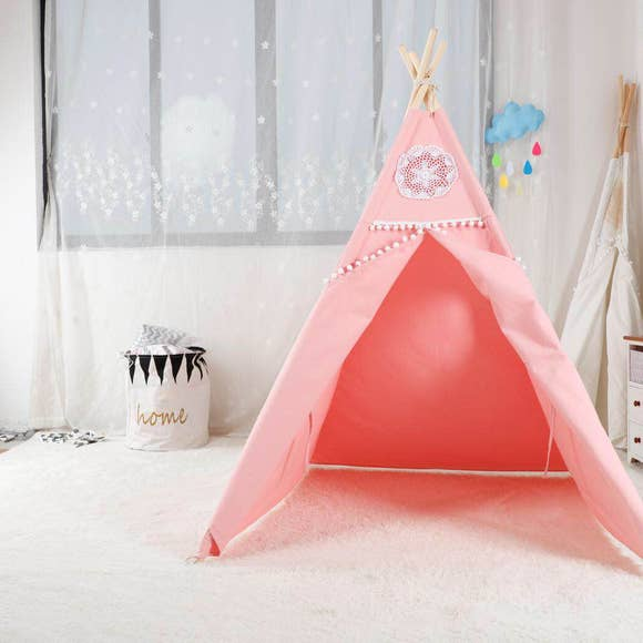 Bookoo Babies Pink Teepee With Mat