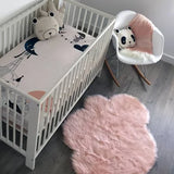 Bookoo Babies Faux Fur Cloud Rug - Blush