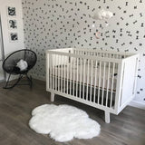 Bookoo Babies Faux Fur Cloud Rug - White