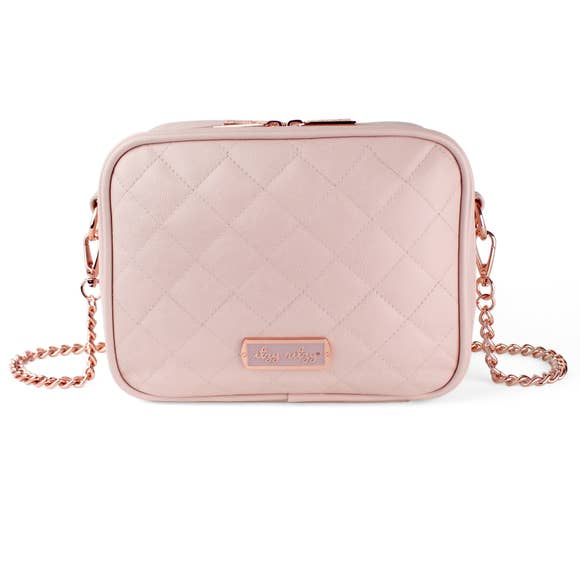 Crossbody Diaper Bag - Pink Blush