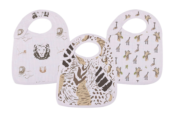 Bookoo Babies On The Savannah Snap Bibs (Set of 3)