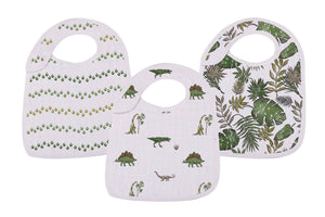 Bookoo Babies Dino Days Snap Bibs (Set of 3)