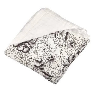 Bookoo Babies American Rose & White Newcastle Blanket