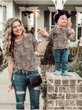 Bookoo Babies Mommy & Me Born To Stand Out Leopard Tops