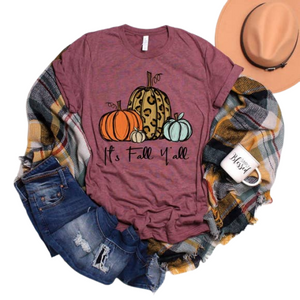 Bookoo Babies Mommy & Me Chalk Pumpkins Cotton Blend Tees