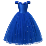Bookoo Babies Royal Blue Beaded Dress Up Gown