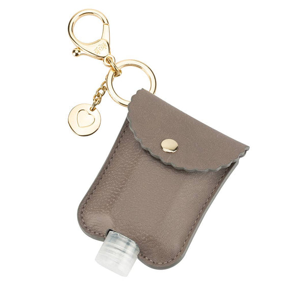 Bookoo Babies NEW Taupe Cute 'n Clean™ Hand Sanitizer Charm Keychain