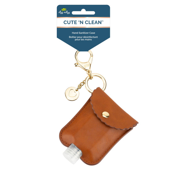 Bookoo Babies NEW Cognac Cute 'n Clean™ Hand Sanitizer Charm Keychain