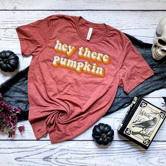 Bookoo Momma Hey There Pumpkin Cotton Blend Tee