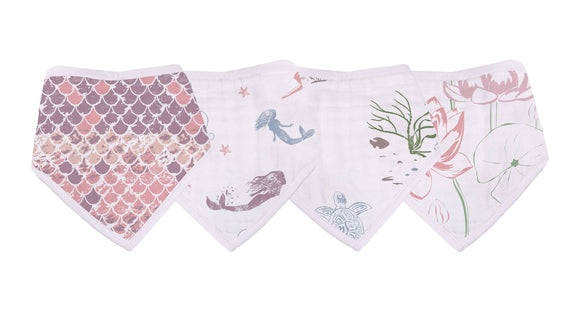 Bookoo Babies Under The Sea Bandana Bibs (Set of 4)
