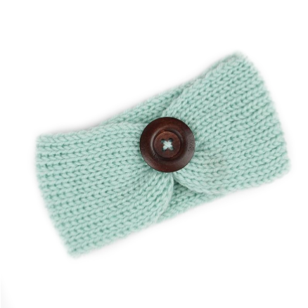 Bookoo Babies Knitted Headwrap With Wooden Button