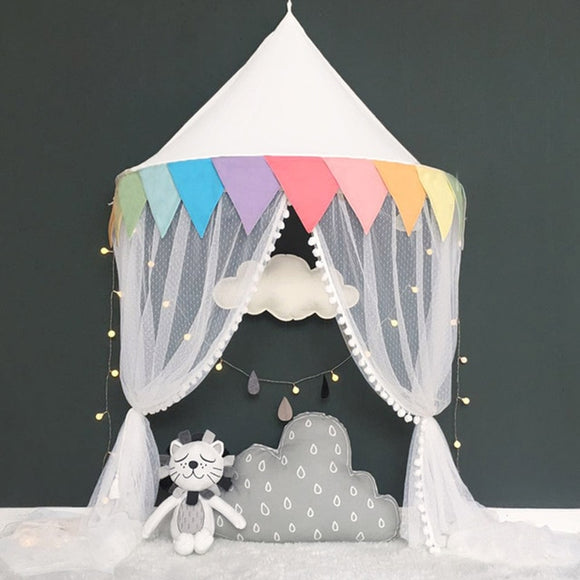 Bookoo Babies Wall Hanging Half Canopy Curtain - Rainbow