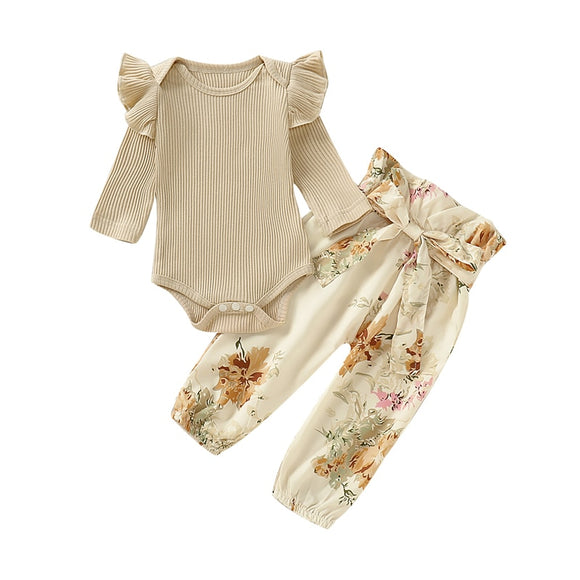 Bookoo Babies Ruffle Sweetheart Floral Outfit