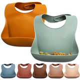 Bookoo Babies Silicone Button Baby Bibs