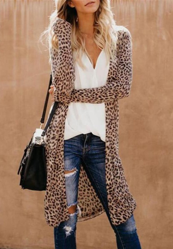 Bookoo Momma Doreen Leopard Knit Cardigan