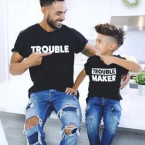Bookoo Babies Daddy & Me Double Trouble Cotton Blend Tee