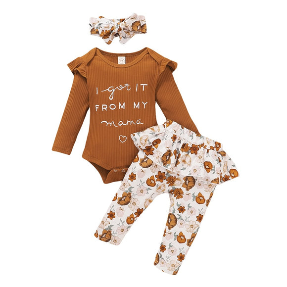 Bookoo Babies Caramel Blossoms Outfit