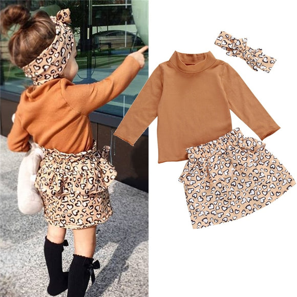 Bookoo Babies Wild About You Turtleneck Sweater + Skirt Outfit