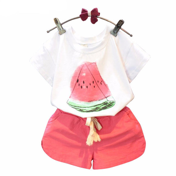 Bookoo Babies Watermelon Cotton Blend Outfit