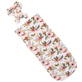 Bookoo Babies Autumn Floral Cocoon Swaddle + Headwrap