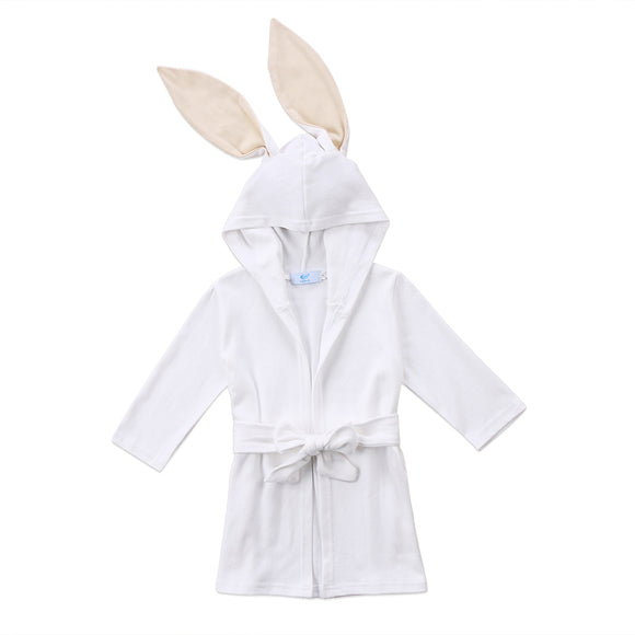 Bookoo Babies Bunny Bubbles Hooded Bathrobe